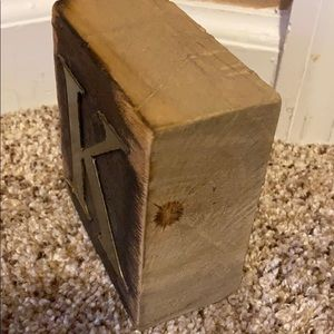 Accents - Wooden Block Letter K